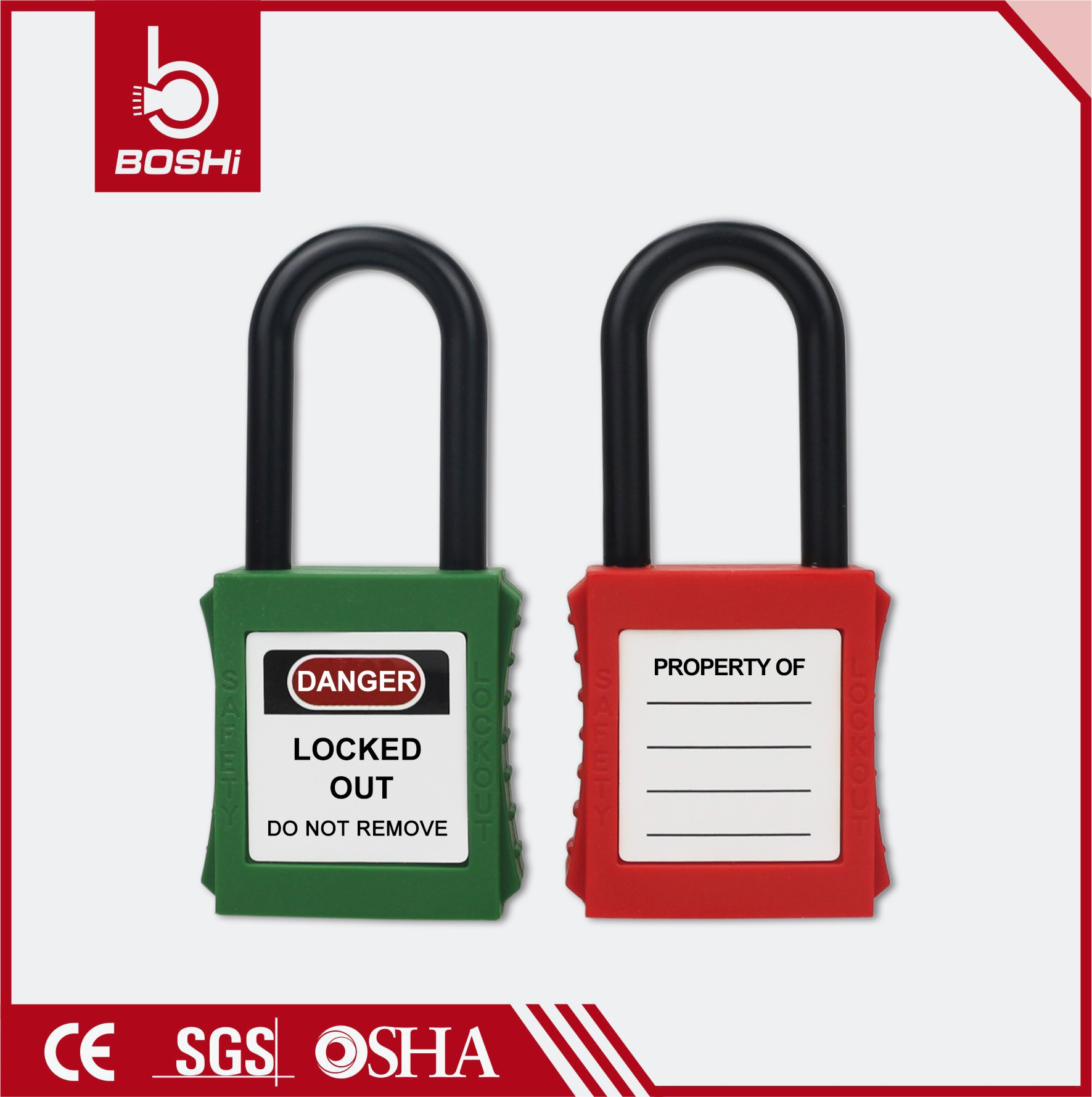 38mm Nylon Shackle Dust-Proof Safety Padlock BD-G11